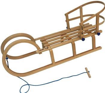 Colint Hörnerrodel Hörner 110 mit Holzlehne und Leine (Set, 3-tlg)