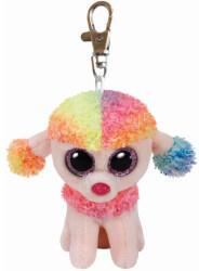 Ty Beanie Boos Clip - Rainbow, Pudel multicolor 8.5cm (7135027)