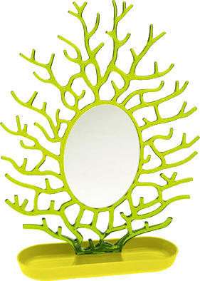 Koziol Schmuckspiegel Cora (solid senfgrün/transparent olivgrün)