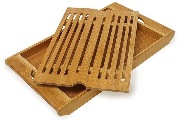 Relaxdays Brotschneidebrett Bambus