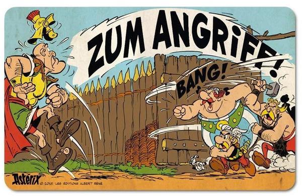 Logoshirt Frühstücksbrettchen mit Asterix & Obelix-Motiv bunt