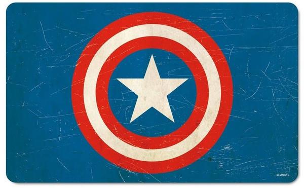 Logoshirt Frühstücksbrettchen mit Captain America-Logo blau