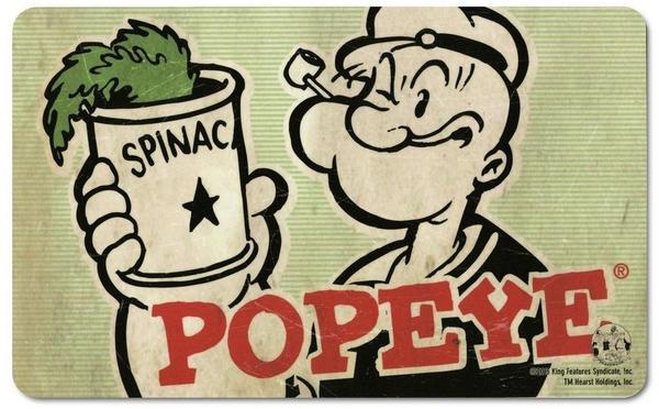 Logoshirt Frühstücksbrettchen mit kultigem Popeye-Motiv gruen