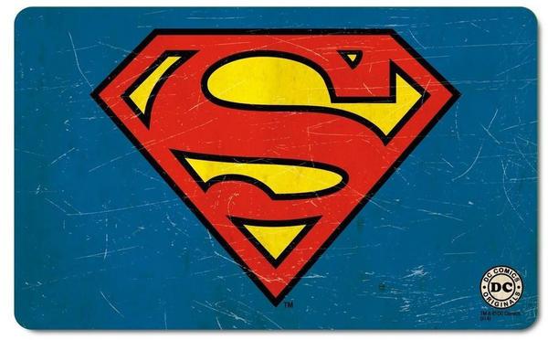 Logoshirt Frühstücksbrettchen mit Superman-Logo blau