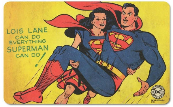Logoshirt Frühstücksbrettchen mit coolem Superman-Druck bunt
