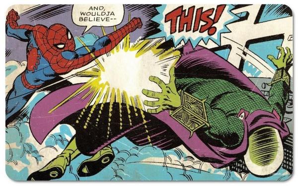 Logoshirt Frühstücksbrett mit Spider Man-Aufdruck bunt