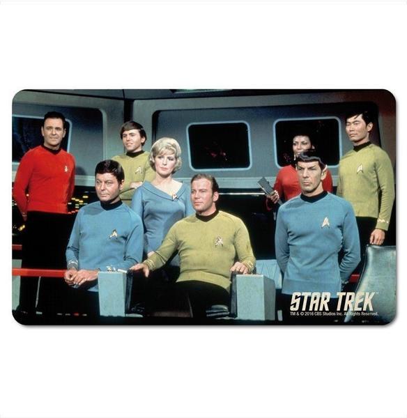 Logoshirt Frühstücksbrettchen im klassischen Star Trek-Design bunt