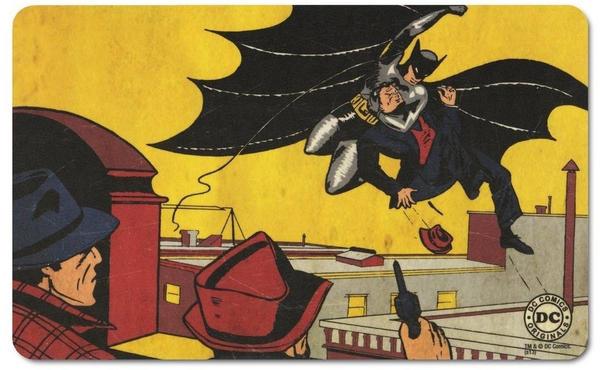 Logoshirt Frühstücksbrettchen mit buntem Batman-Motiv bunt