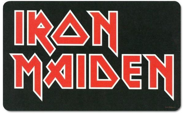 Logoshirt Frühstücksbrettchen mit Iron Maiden-Logo schwarz