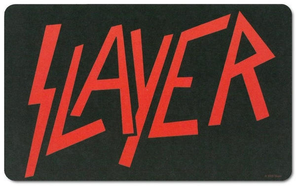 Logoshirt Frühstücksbrettchen mit Slayer-Logo schwarz
