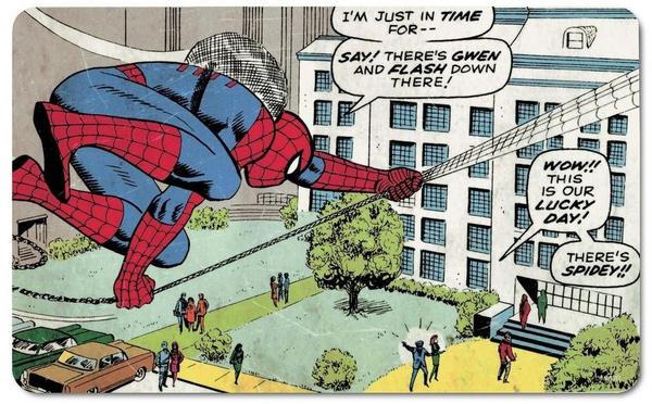Logoshirt Frühstücksbrettchen mit Spiderman-Druck bunt