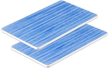WACA Frühstücksbrett Bistro Melamin Set 2-teilig blau