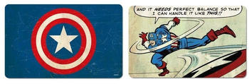 Logoshirt Frühstücksbrettchen Set 2-teilig Captain America