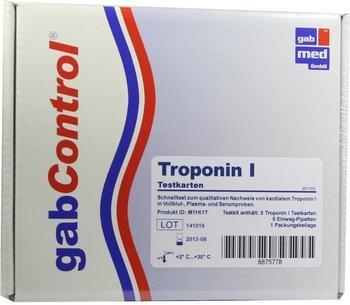 Gabmed Troponin Schnelltestkarte Vollblut Serum Plasma (5 Stk.)