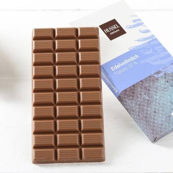 Hussel Fairtrade Mass Balance Edelvollmilch-Schokolade 32% (90g)