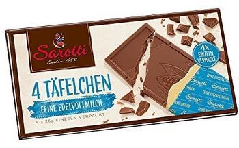 Sarotti 4 Täfelchen Feine Edelvollmilch (100g)