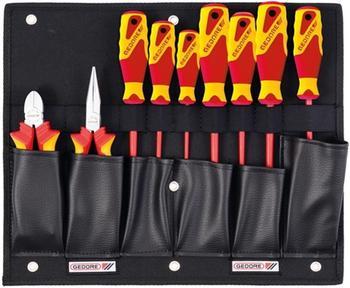 Gedore Werkzeugkarte mit VDE-Zangen/Schraubendreher-Sortiment 9-teilig (1100 W-002 VDE)