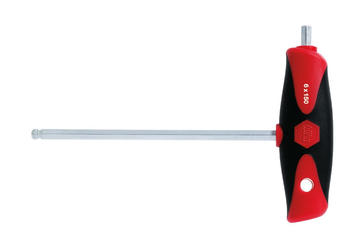 Wiha Stiftschlüssel mit Quergriff ComfortGrip Innensechskant (540DS) - (28373) 4 mm