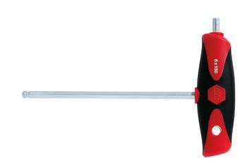 Wiha Stiftschlüssel mit Quergriff ComfortGrip Innensechskant (540DS) - (28374) 5 mm