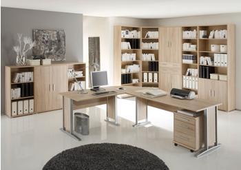 Möbel-Eins Office Line Winkelkombination Eiche Sonoma