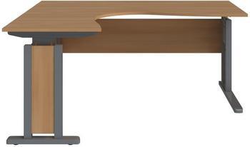 Wellemöbel JOBexpress Schreibtisch L-Form 160cm Buche
