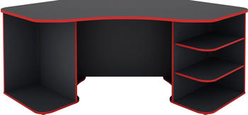 Homexperts Tron (198 x 85cm) Grau/Rot