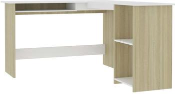vidaXL Chipboard White/Oak Sonoma