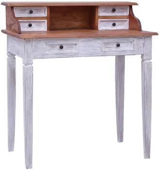 vidaXL Desk With 6 Drawers in Reclaimed Wood