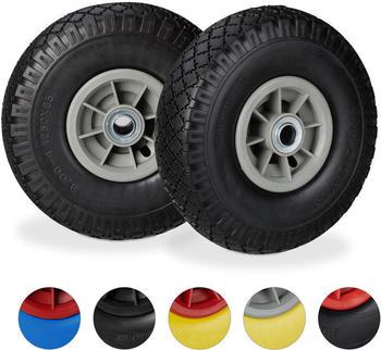 Relaxdays 10026068 2 wheels black/grey