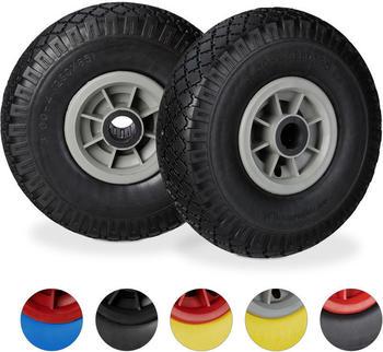 Relaxdays 10026070 2 wheels black/grey