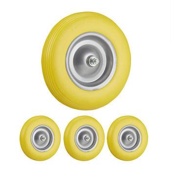 Relaxdays Gummirad 4x gelb-grau (3100283173111)