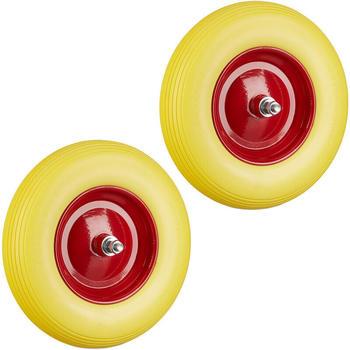 Relaxdays Gummirad 2x gelb-rot (6100283126892)