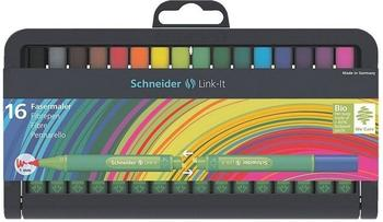 Schneider Faserschreiber Link-It, 1,0 mm, 16er Stiftebox sortiert