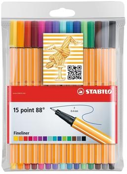Stabilo Point 88 15er Kunststoffetui