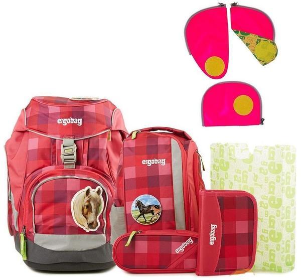 ergobag pack Rhabarbär Karo Rosa Lila 5tlg.