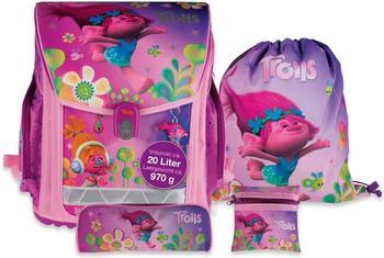 Stylex DreamWorks Trolls Schulranzen-Set 4-teilig pink