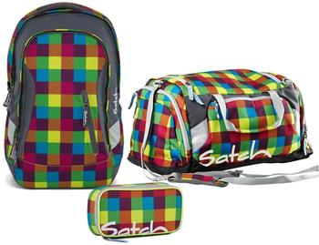 Satch Schulrucksack-Set 3-tlg Sleek Beach Leach 2.0
