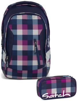 Satch Schulrucksack-Set 2-tlg Sleek Berry Carry