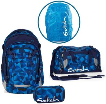 Satch Schulrucksack-Set 4-tlg Match Blue Crush