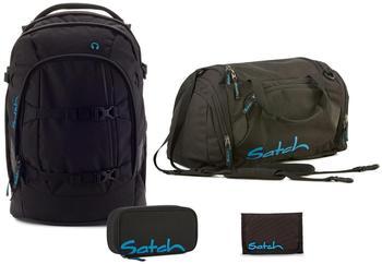 Satch Schulrucksack-Set 4-tlg Pack Black Bounce