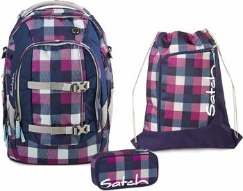 satch Schulrucksack-Set 3-tlg Pack Berry Carry