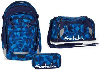 Satch Schulrucksack-Set 3-tlg Match Blue Crush