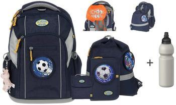 School-Mood Schulrucksack-Set LOOP von School-Mood - Modell 2017 - Marine BlueFußball