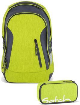 satch Schulrucksack-Set 2-tlg Ginger Lime 206 grün melange