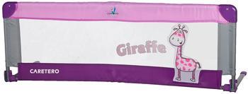 Caretero Safari Bettgitter, leicht, tragbar mit Klappfunktion, 120 x 40 cm, Violett