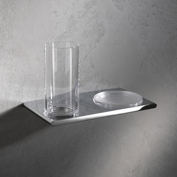 Keuco Edition 400 Doppelhalter mit Glas und Seifenschale 215x135x120mm chrom (11556019000)