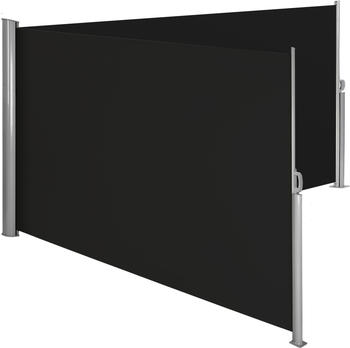 TecTake Alu Doppel Seitenmarkise 160x600cm schwarz (402332)