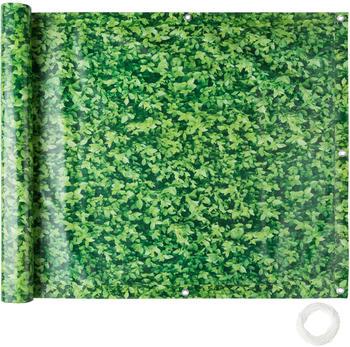 TecTake Balkon Sichtschutz Variante 1 grünes Laub 75cm (402705)