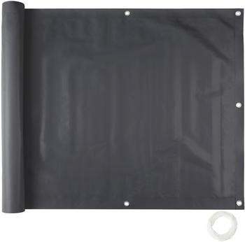 TecTake Balkon Sichtschutz Variante 1 schwarz 75cm (402700)