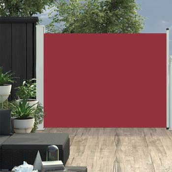 vidaXL Ausziehbare Seitenmarkise 140×500 cm rot 48397